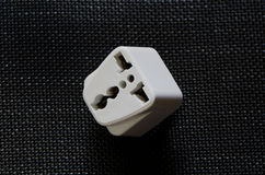 White Travel Power Adaptor Royalty Free Stock Images