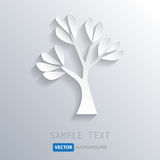 White tree background, vector eps10 Stock Photography