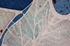 White tree, hot batik, background texture, handmade on silk, surrealism art royalty free stock photos