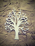 White tree. Paper cutting Stock Photography