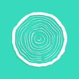 White tree rings with shadow royalty free illustration