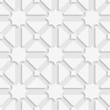 White triages and stars with shadow tile ornament Royalty Free Stock Photography