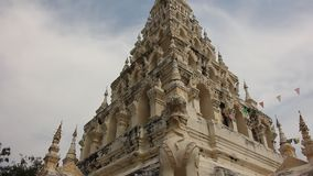 White Triangle Pagoda stock video footage