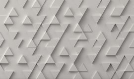White triangle pattern backdrop background. 3D rendering vector illustration