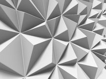 White triangle pattern surface. Abstract geometric background. 3d render illustration Stock Illustration