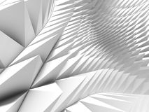 White triangle pattern surface. Abstract geometric background. 3d render illustration Royalty Free Illustration
