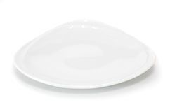 White triangle plate Stock Photography