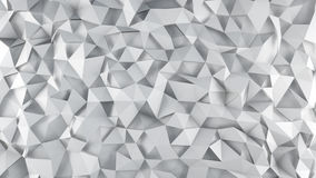 White triangle polygons surface abstract 3D render. White triangle polygons surface. Abstract 3d render illustration Royalty Free Stock Photography