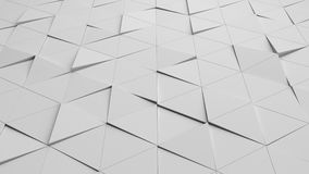 White triangle tile flooring in business concept, texture. Background, 3d illustration Royalty Free Stock Image