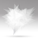 White triangles Stock Photography