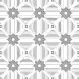 White triangles with lines and gray tile ornament Royalty Free Stock Images