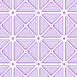 White triangles with lines and violet tile ornament Stock Photography