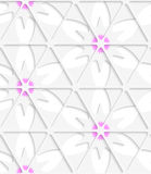 White triangular net and pink seamless Royalty Free Stock Image