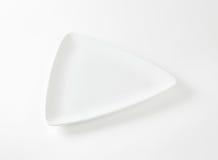 White triangular plate Stock Photo