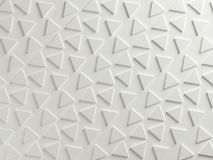White triangular textured abstract background Royalty Free Stock Photo
