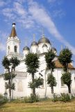 White Trinity Church, oldest building Russia Royalty Free Stock Images