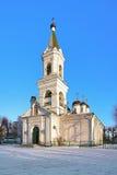 White Trinity Church in Tver, Russia. White Trinity Church, the oldest stone building in Tver, Russia royalty free stock photo