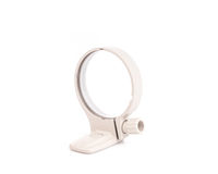 White tripod lens collar mount ring isolated in white Royalty Free Stock Images