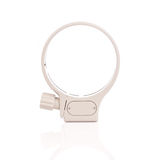 White tripod lens collar mount ring isolated in white Royalty Free Stock Photos