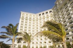 White Tropical Hotel Stock Photography