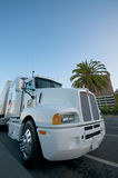 White Truck. Class 8 Kenworth White Truck at Embarcadero San Franciso Stock Photography