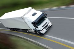 Free White Truck And Trailer Stock Photos - 6795763