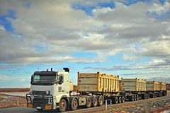 White truck carring diesel in large tanks. royalty free stock image