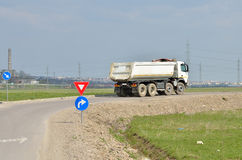 White truck for cereals Stock Photography