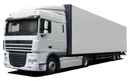White truck DAF XF Stock Photos
