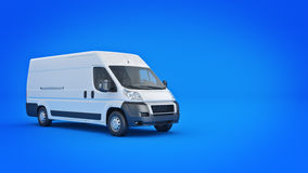 White Truck-Fast shipping. 3D rendering Stock Photos