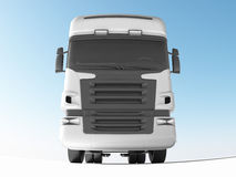 White truck front view Royalty Free Stock Photography