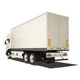 White Truck Isolated Stock Photos