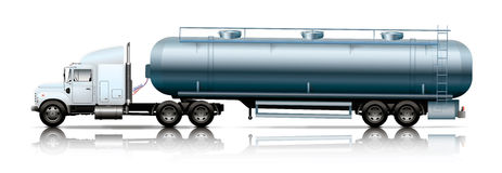 White truck with tanker Royalty Free Stock Images