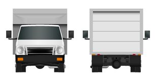 White truck template. Cargo van Vector illustration eps 10 isolated on white background. City commercial car delivery service. Stock Images