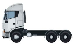 White truck without trailer Royalty Free Stock Images