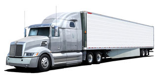 White truck Western Star. Royalty Free Stock Photos