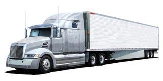 White truck Western Star. White truck Western Star on white background royalty free stock photos