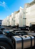 White trucks Stock Photos
