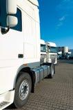 White trucks Royalty Free Stock Photos