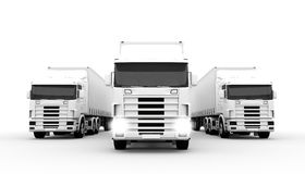 White trucks Stock Images