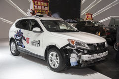 White trumpchi transformers car Royalty Free Stock Photo
