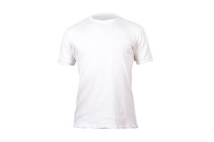 White Tshirt Template Royalty Free Stock Photo