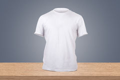 White Tshirt Template Royalty Free Stock Image