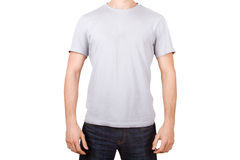 White Tshirt on Young Man Royalty Free Stock Photo