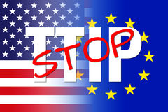 White ttip red stop Royalty Free Stock Images