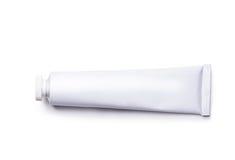 White tube. Isolated on white background Royalty Free Stock Photo