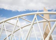 White Tubular Steel Arch Stock Image