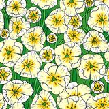 White tulips. Vector seamless pattern with white tulips Royalty Free Stock Photos
