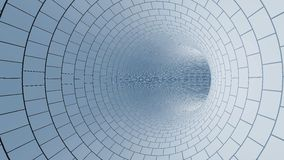 White Tunnel. Brick made white color tunnel Stock Photography
