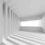 White Tunnel Background. 3d Illustration of White Tunnel Background Royalty Free Stock Photos